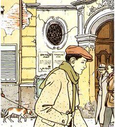 Vittorio Giardino Graphic Art, Graphic Novels, Ligne Claire, Fun Comics, Comic Artist, Cartoon Drawings, Character Concept, Illustrators, Comic Illustrations
