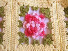 Delicious Peony Crochet Quilt. $45.00, via Etsy.