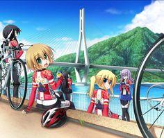 Long Riders (ろんぐらいだぁす) #LongRiders Old Anime, Manga Anime, Anime Meme, Bike Illustration, Art Of Love, Bicycle Art, Cycling Art, Neko, Cartoon