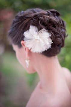 Pretty wedding updo | photo by Harwell Photography
