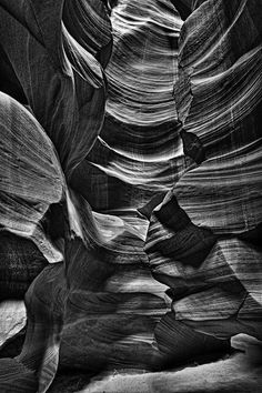 Slot Canyon Multi Layer HDR B&W | Another black and white co… | Flickr