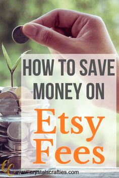 I have a few ways to save money on Etsy Fees that should calm your fears some and get you back into the swing of selling Etsy or starting your shop. Ways To Save Money, Money Saving Tips, How To Make Money, Money Tips, Saving Ideas, Starting An Etsy Business, Thing 1, Etsy Crafts, Craft Business