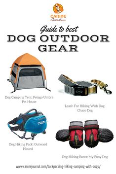 The Ultimate Guide to Backpacking Hiking & Camping With Your Dog Hiking Supplies, Dog Supplies, Outdoor Dog, Outdoor Gear, Blue Weimaraner, Dog Kennel Designs, Expensive Dogs, Cool Dog Houses, Hiking Dogs