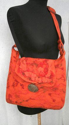 Wool felted bag Orangemania | Flickr - Photo Sharing!