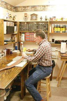 Leather studio in Morgan, Minnesota