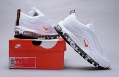 d389498eb6 Nike Air Max 97 Cone white / orange BQ4567-100 Women's Men's Casual Shoes
