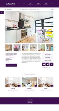 A Responsive website design using the Bootstrap platform for Bridge New Homes & Land. Based in the trendy heart of Shoreditch in East London and specialists in high quality new developments, sales and lettings, land and property management. Work in prog…