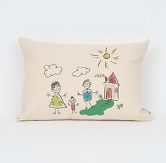 Handmade mothers day gift ideas - custom artwork pillow