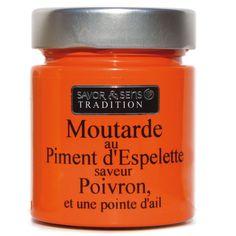 Moutarde au piment d'Espelette et ail - 130 g - Color - Plaisirs salés-Épicerie gourmande-Cuisine-Par pièce - Décoration intérieur - Alinea