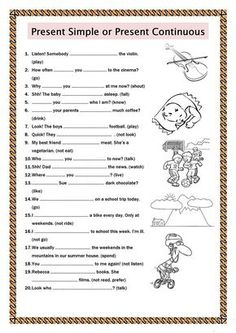 Present Simple or Present Continuous worksheet - Free ESL printable worksheets made by teachers