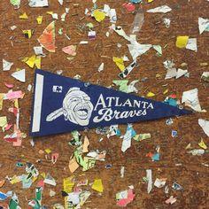 Atlanta Braves Navy Blue Baseball Pennant by ThePennantProject