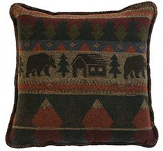 Cabin Bear Pillow
