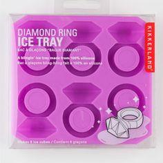 KIKKERLAND Diamond Ring Ice Tray- Bridal Party ideas