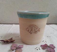 Becher & Tassen - Becher Fisch Keramik - ein Designerstück von art-mate bei DaWanda