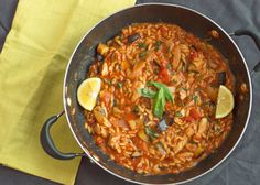 One pot chicken & orzo aubergine