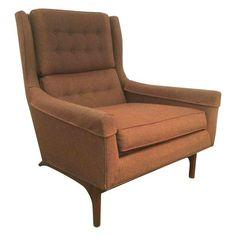 Image of Vintage Goebel Woodworks Danish Modern Wing Chair