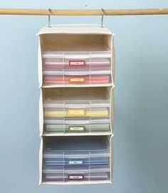 sweater shelf into paper storage It's Written on the Wall: Organized and Amazing Craft Rooms-Part 1