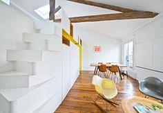 Colorful Apartment in Paris Suits Young Fashion Designer - http://freshome.com/colorful-apartment-paris/