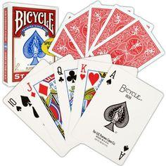Trademark Bicycle Standard Index Playing Cards (Red) $3.42 (79% OFF)