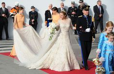 Only cartoon princesses wear strapless wedding gowns. Real ones do not!    The Wedding Of Prince Guillaume Of Luxembourg & Stephanie de Lannoy - Official Ceremony