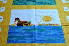 Beautiful custom Eric Carle  Ten little rubber ducks theme weighted blanket.