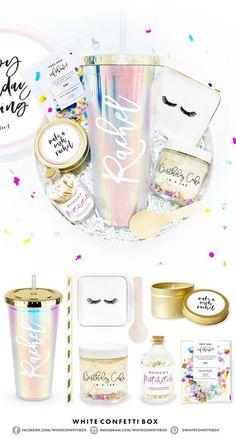 Birthday Gift - Birthday Gifts For Her - White Confetti - Happy Birthday - Birthday Gift Box . Birthday Gift – Birthday Gifts For Her – White Confetti – Happy Birthday – Birthday Gift Bo