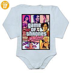 Westeros GoT Parody Baby Long Sleeve Romper Bodysuit Extra Large - Baby bodys baby einteiler baby stampler (*Partner-Link)