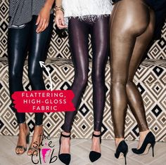 Love love lovvve spanx leggings! 💕 So many different options on how to wear them.  ☎️210-824-9988  Faux leather leggings $98