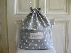Big Laundry bag thick cotton Lingerie bag clothes bag by aniasews.etsy.com