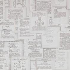 Papel pintado collage cartas del catálogo Riviera Maison ref. 18261