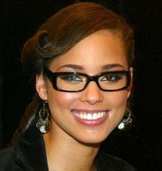 df5e18b806 I think black square frame glasses make most girls look better. Celebrities  With Glasses