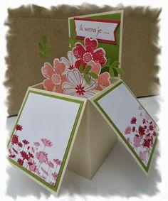 Stamping with Caroline: Kaart in doosje - Card in the box