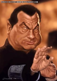 Caricatures of famous movie characters Steven Seagal