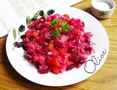 Vinyegret, az oroszok téli salátája   Katarzis Bruschetta, Raspberry, Cabbage, Fruit, Vegetables, Ethnic Recipes, Food, November, Tea