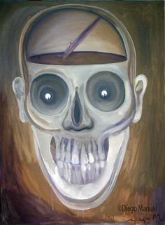 El Eternauta, acrylic on canvas, 97 x 140 cm. , 2007.. Painting of the Serie Pop Surrealism for sale by artist Diego Manuel
