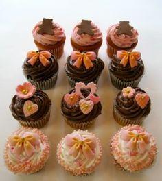 Bridal shower cupcakes :) Bridal Shower Cupcakes, Cupcake Ideas, Mini Cupcakes, Wedding Ideas, Desserts, Food, Tailgate Desserts, Deserts, Essen