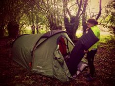 France-wild-camping while bicycle touring.
