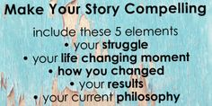 How To Make Your Story Compelling.