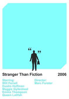 Stranger Than Fiction by Gidi Vigo – Minimal Movie Posters