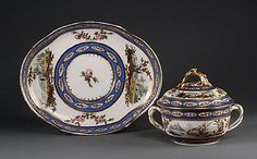 Covered Bowl Sèvres Manufactory Date: 1784