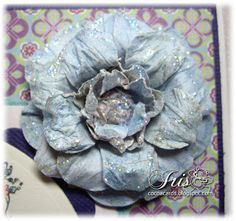 Belles 'n Whistles Stamps: Tutorial Tuesday - Paper Flower