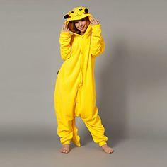 Magia Pikachu Amarillo Polar Fleece Kigurumi Pijamas Pijamas Cartoon Animal disfraz de Halloween – CLP $ 14.760