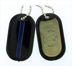 Thin Blue Line - Saint Michael Dog Tag- May all my LEO friends be protected & go home safely, each shift. ♥