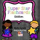 Help your kiddos learn their addition math facts with Super Star Flashcards! This set includes addition facts with sums up to Use your good m. 1st Grade Math, Kindergarten Math, Teaching Math, Second Grade, Maths, Addition Facts, Addition And Subtraction, Map Math, Addition Flashcards