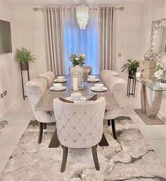 Dining Room Table Decor, Elegant Dining Room, Luxury Dining Room, Dining Room Design, Living Room Decor, Dining Room Sets, Bedroom Decor, Home Room Design, Decor Interior Design