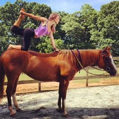 Pin for Later: This Awkward Horseback Yoga Trend Is Actually Quite Amazing Kneeling Bow Pose