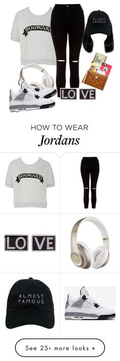 """""""just something to wear"""" by qveenofashion on Polyvore featuring New Look, Nasaseasons, Beats by Dr. Dre, Givenchy and NIKE"""