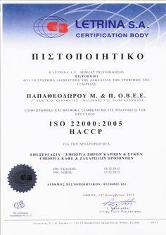 ISO 22000:2005, HACCP