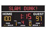"All American Scoreboard# 8208EMC 3'8"" x 8'0"" Standard Basketball/Volleyball Scoreboard and Electronic Message Center"