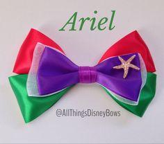 Disney Ariel/Little Mermaid Inspired Hair Bow by AllThingsDisneyBows || https://www.etsy.com/shop/AllThingsDisneyBows?ref=l2-shopheader-name